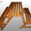 Лавка-трансформер деревянная, Модерн