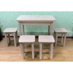 Комплект  Браво 3, раскладной стол + 4 табурета, Модерн
