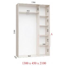 Шкаф гардероб 1.3 м, Феникс