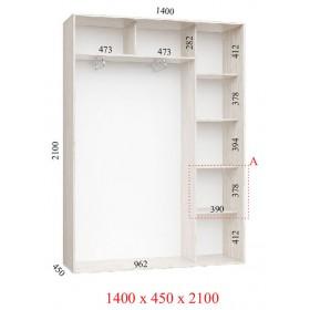 Шкаф гардероб 1.4 м, Феникс