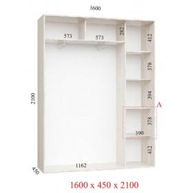 Шкаф гардероб 1.6 м, Феникс