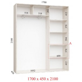 Шкаф гардероб 1.7 м, Феникс