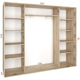 Шкаф гардероб 2.5 м, Феникс