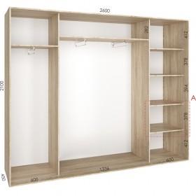 Шкаф гардероб 2.6 м, Феникс