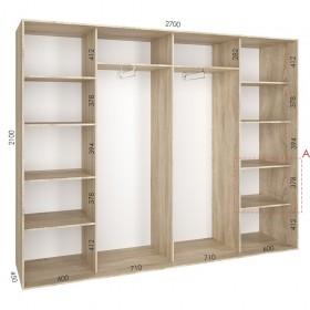 Шкаф гардероб 2.7 м, Феникс