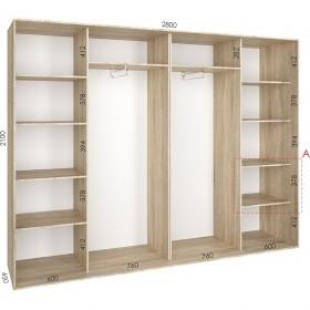 Шкаф гардероб 2.8 м, Феникс