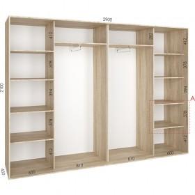 Шкаф гардероб 2.9 м, Феникс
