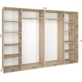 Шкаф гардероб 3.0 м, Феникс