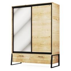 Шкаф 2Д2Ш Лофт, Світ Меблів