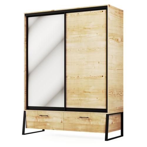 Шкаф 2Д2Ш Лофт, Світ Меблів, фото 1