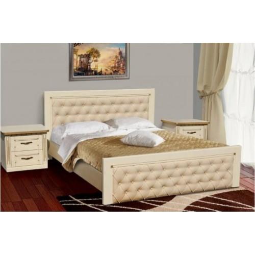 Кровать Фридом слоновая кость + патина золото, Микс-Мебель, фото 1