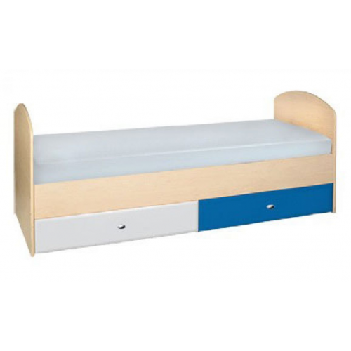 Кровать Гуливер белый глянец/красная белая/синяя, Модерн, фото 1