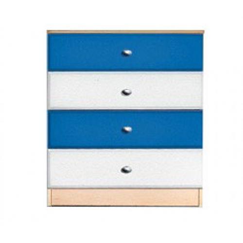 Комод «Гуливер» белый глянец/красная белая/синяя, Модерн, фото 1