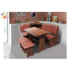 Кухонный комплект Симфония (уголок+стол+2 табурета), Микс-Мебель