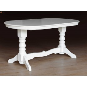Стол Говерла (белый) обеденный раскладной, 1600(+400)*900, Микс-Мебель