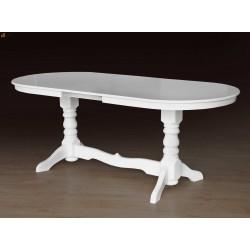 Стол Говерла-2 (белый) обеденный раскладной, 1200(+400)*800, Микс-Мебель