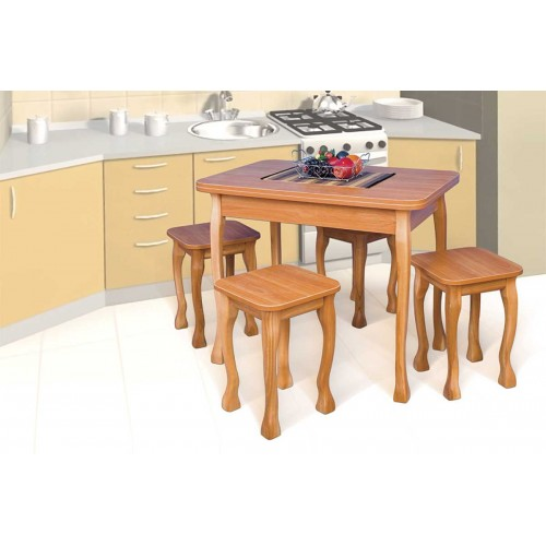 Комплект  Браво-2: раскладной стол + 4 табурета, Модерн, фото 1