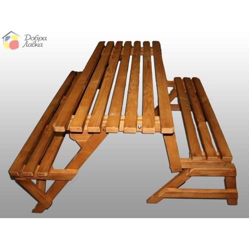 Лавка-трансформер деревянная, Модерн, фото 1