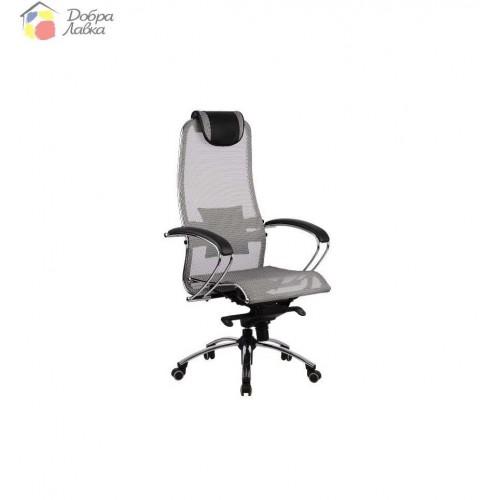 Кресло для руководителя Samurai S1 Grey METTA, фото 1