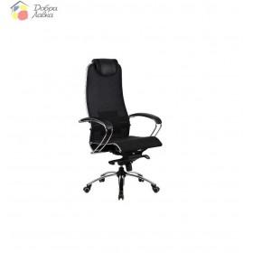 Кресло для руководителя Samutai S1 BLACK PLUS METTA
