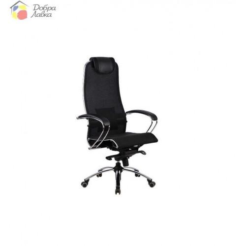 Кресло для руководителя Samutai S1 BLACK PLUS METTA, фото 1