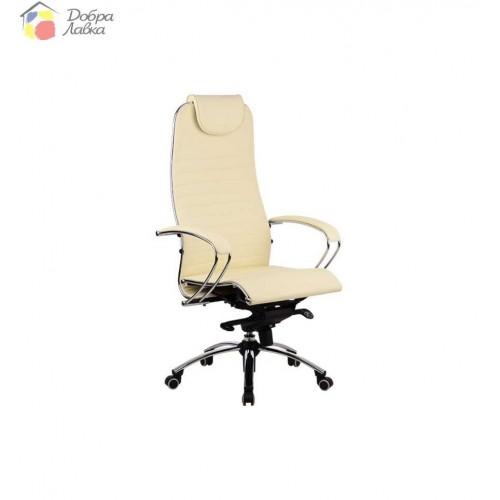 Кресло для руководителя Samurai K1 BEIGE METTA, фото 1