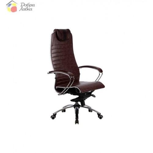 Кресло для руководителя Samurai K1 BROWN METTA, фото 1