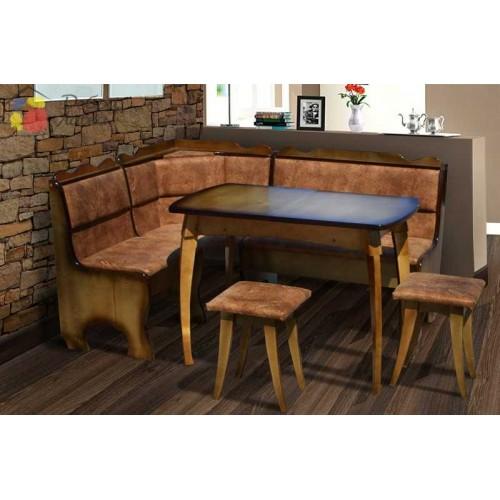 """Комплект кухонный """"Даллас"""" (уголок+стол+2 табурета) Микс-Мебель, фото 1"""