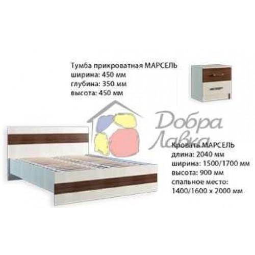 Кровать Марсель 160 с ламелями, Феникс, фото 1