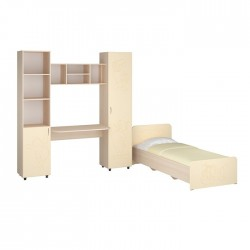 Детский мебельный набор Джери МДФ без кровати, Пехотин