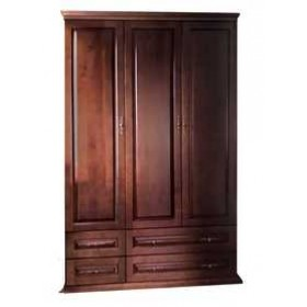 Шкаф 3-х дверный с ящиками (филенка), Елисеевская мебель