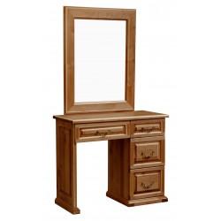 Туалетный стол однотумбовый филенка, Елисеевская мебель