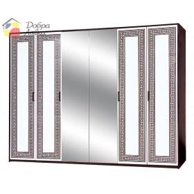 Шкаф 6Д Бася новая Олимпия, Світ Меблів