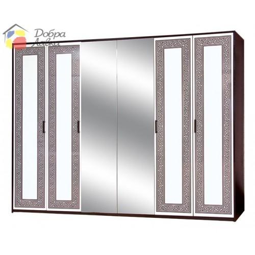 Шкаф 6Д Бася новая Олимпия, Світ Меблів, фото 1