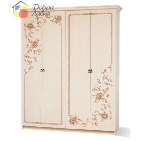 Шкаф 4Д  Ванесса, с 4-я дверями, Світ меблів