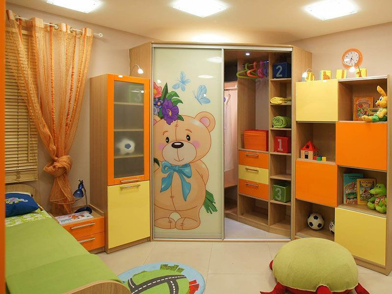 Угловые шкафы-купе в детскую комнату, фото2